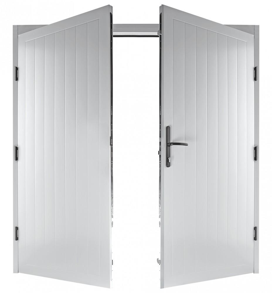 Steel side hinged garage doors access garage doors for Garage side entry door