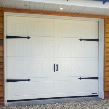 Hormann LTH42 Garage Door in Limestone White