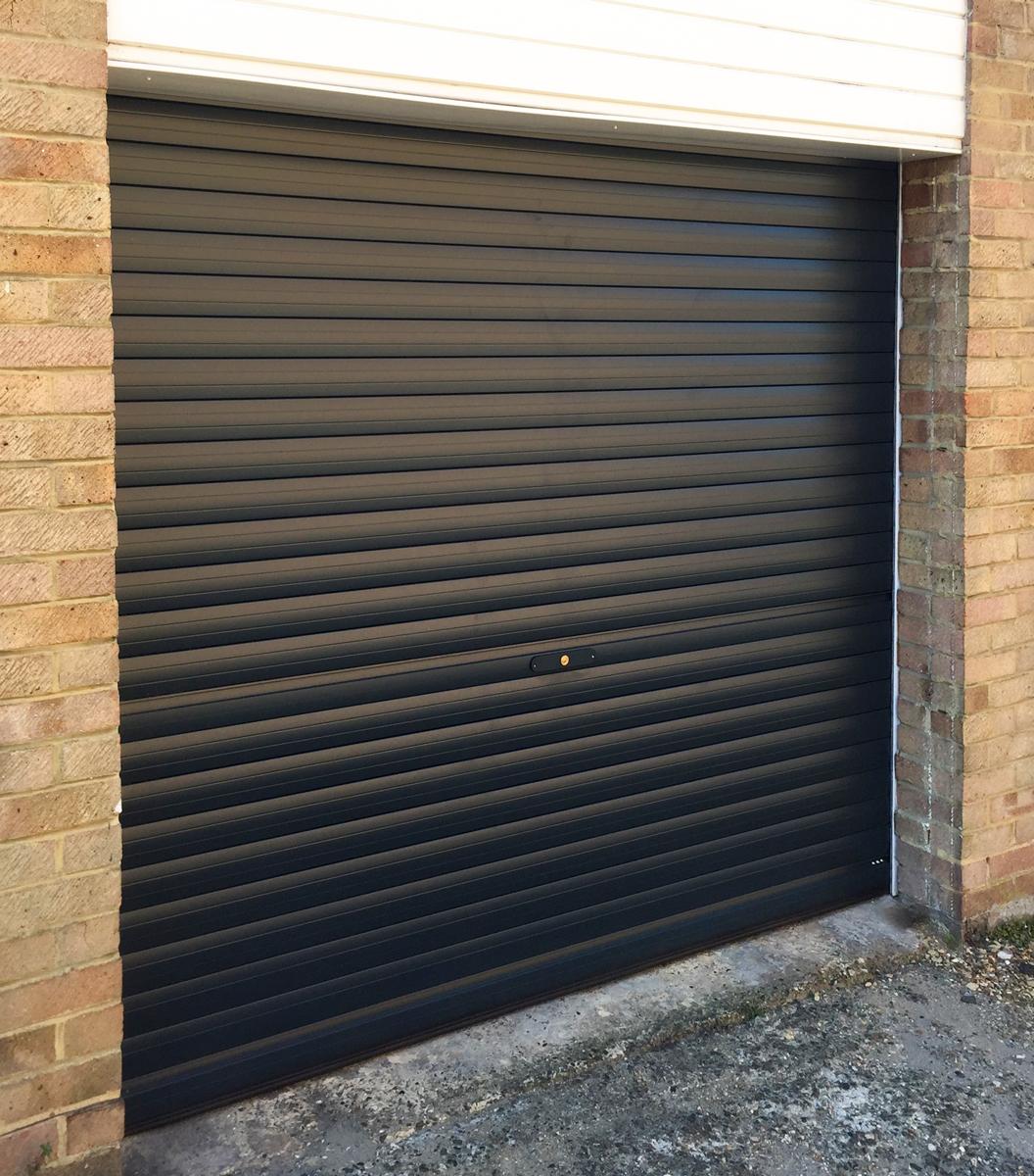 A SWS, Manual, Roller Garage Door in Black