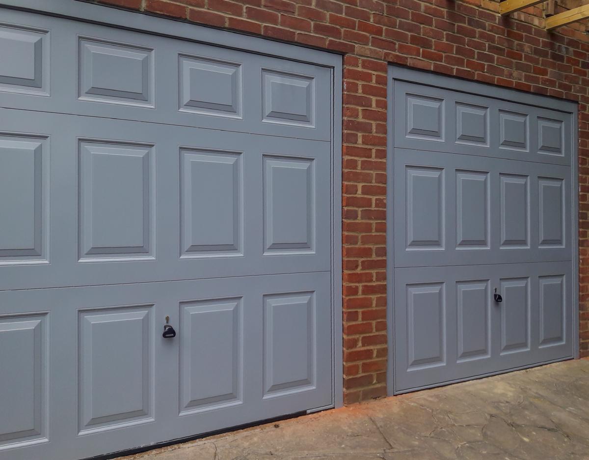 2 x Garador Beaumont Canopy Garage Doors