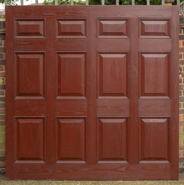 Cardale Canterbury GRP Retractable Garage Door in Moahogany Woodgrain