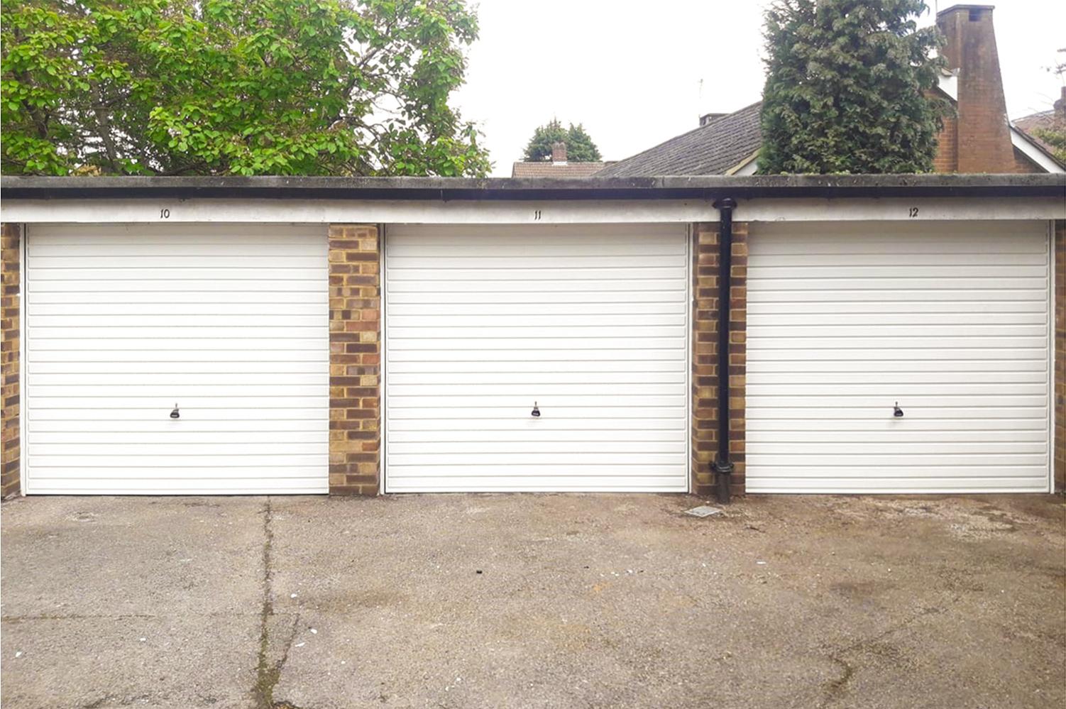 3x Garador Horizon Steel Up & Over Garage Doors Finished in Traffic White