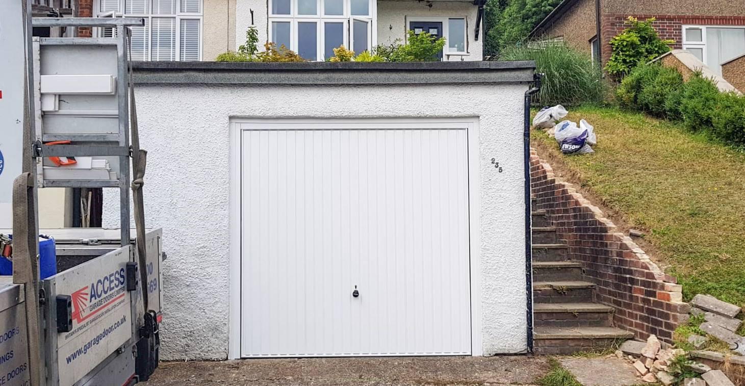 70x70 Hormann 2001 Canopy Garage Door in white