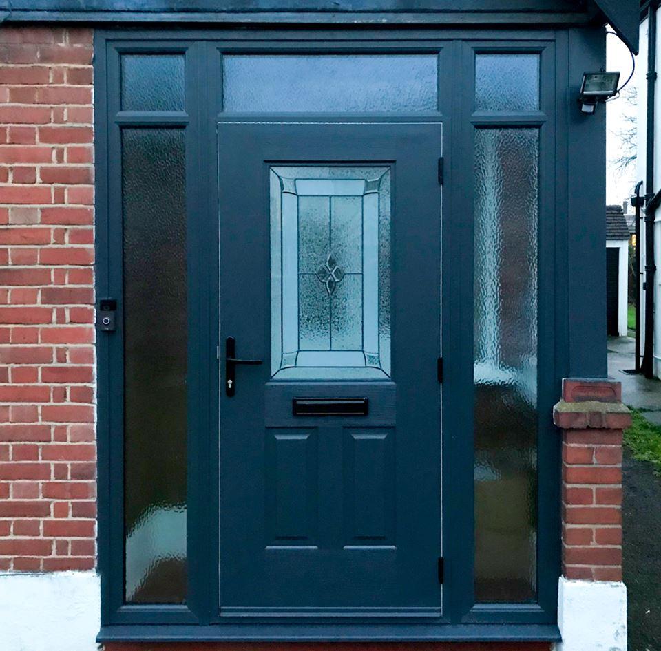 ARockDoorUltimate Windsor Front Door in Black