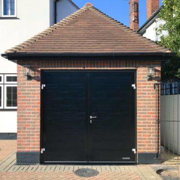 A Hormann NT60 Side-Hinged Garage Door in Black