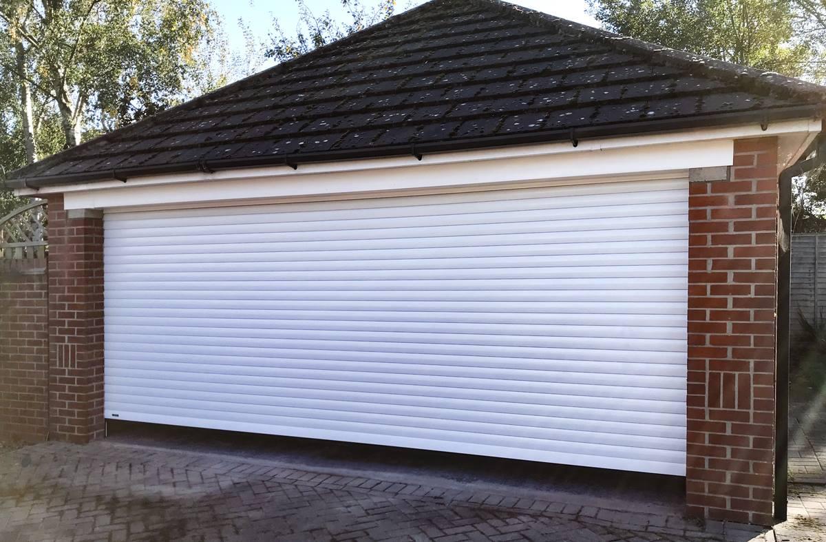 SWS Classic Roller Shutter Double Door in White