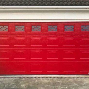 Access Garage Doors | Ruby Red Hormann LPU42 S-Panelled Sectional Door
