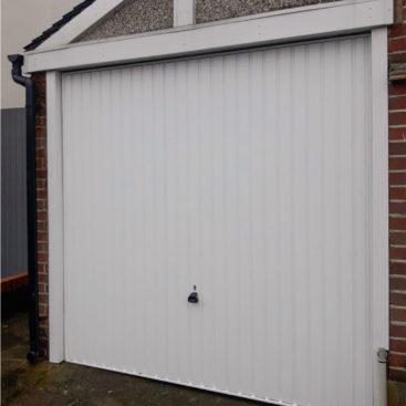 Garador Carlton Canopy Up & Over Garage Door Finished in White