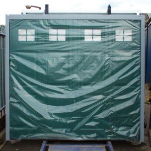 Hormann-Gerogian-Canopy-Up-&-Over-Garage-Door-Moss-Green
