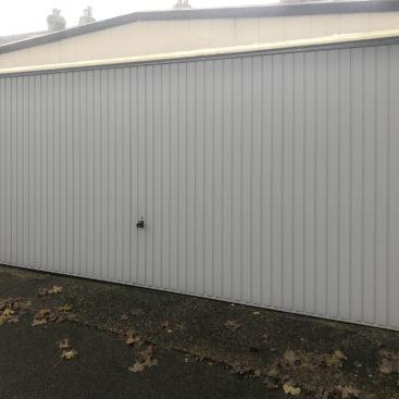 Garador Carlton Double Garage Door Finished in Window Grey