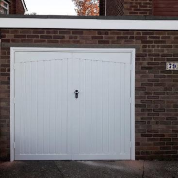 Fort Doors Steel Side Hinged Garage Door Finished in White
