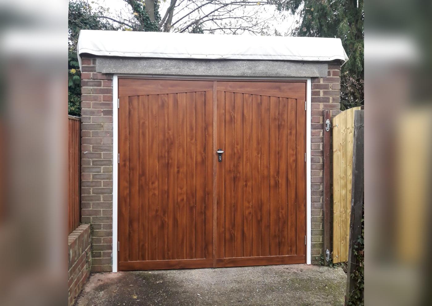 Fort Doors Steel Side Hinged Garage Door in Alton design