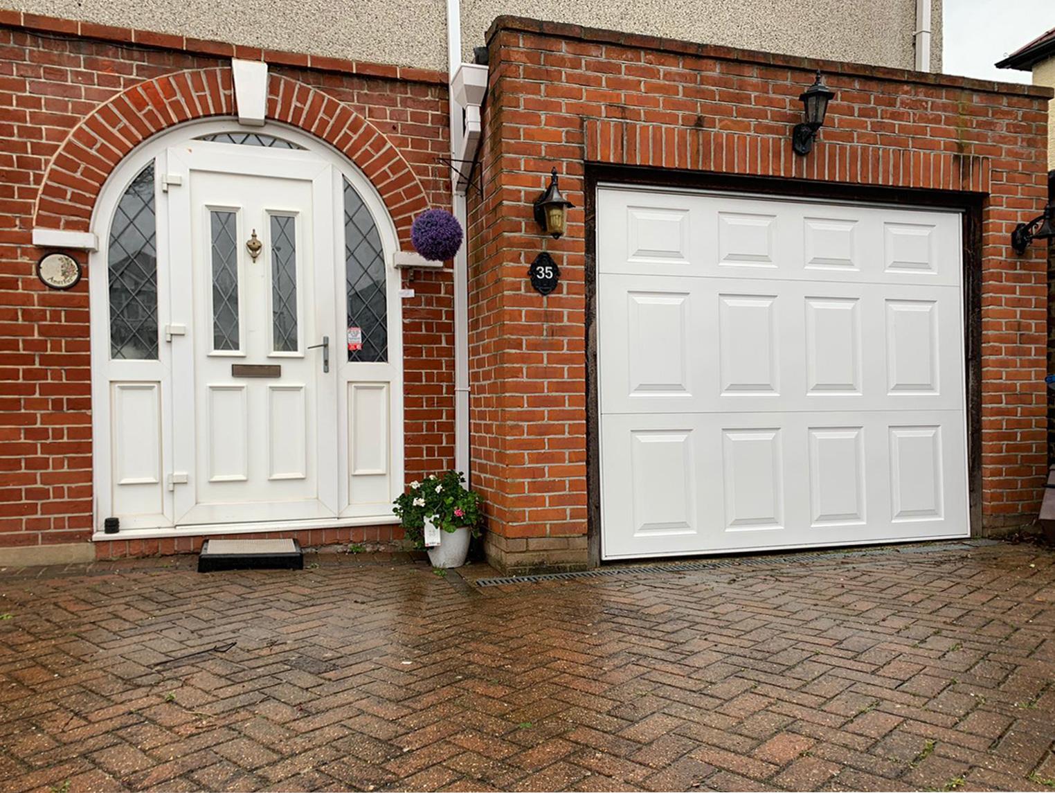 Garador Beaumont Retractable Up & Over Garage Door Finished in White