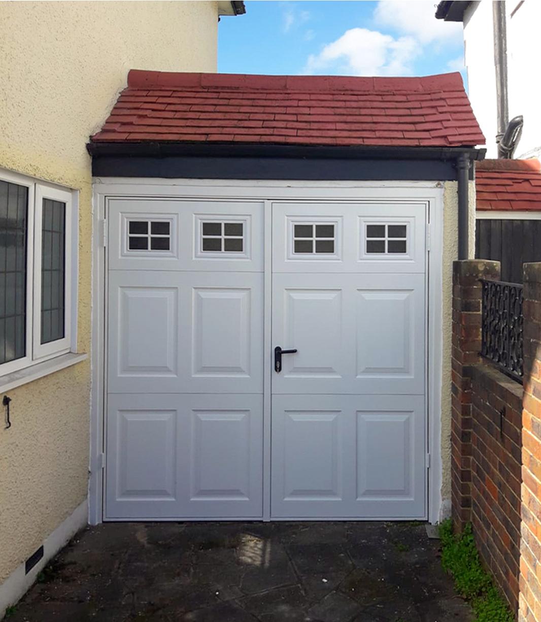 Garador Beaumont Side Hinged Garage Door Finished in White