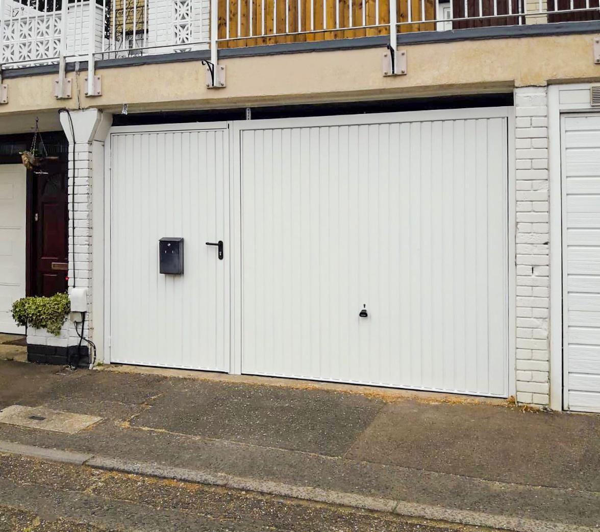 Garador Carlton Canopy Garage Door with Matching Pedestrian Door