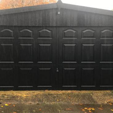 Garador Cathedral Steel Up & Over Garage Doors Finished in Black