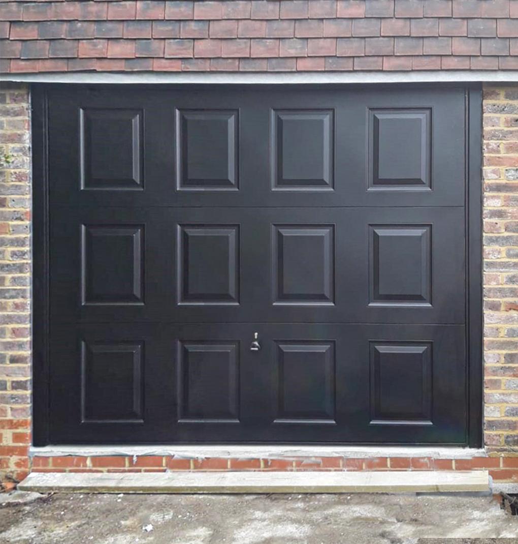 Garador Georgian Retractable Steel Up & Over Garage Door Finished in Black