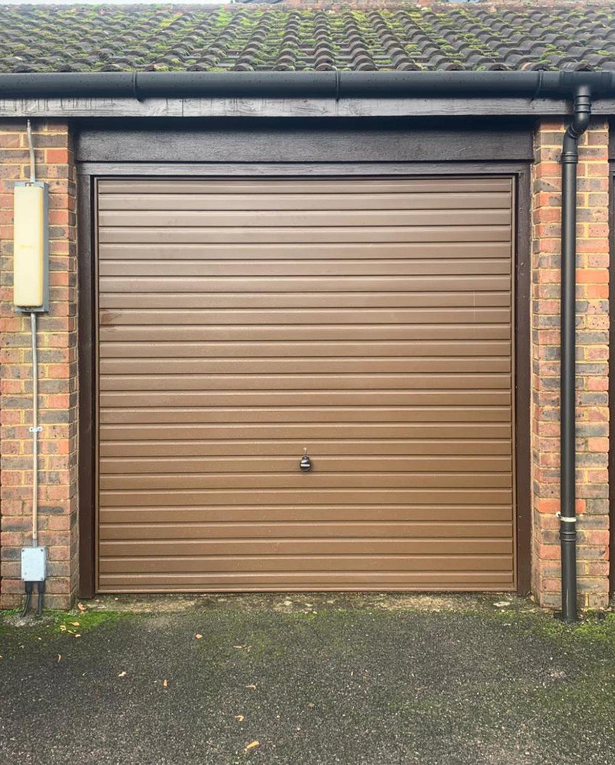 Garador Steel Up & Over Garage Door Finished in Brown