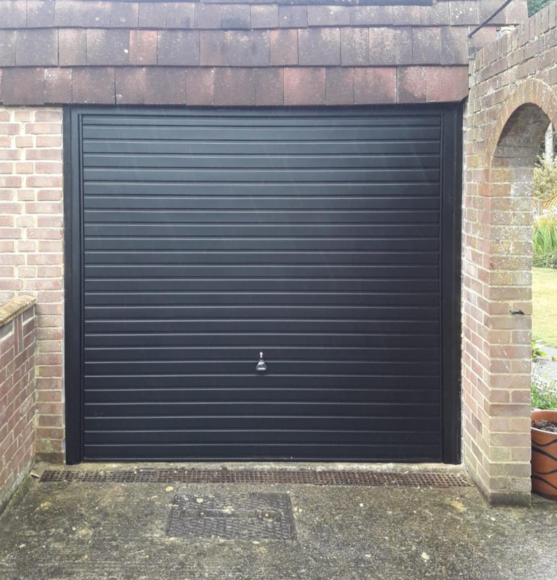 Garador Steel Up & Over Garage Door Finished in Black