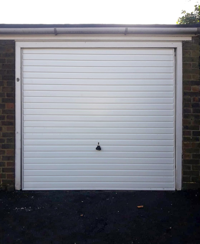 Garador Horizon Steel Up & Over Garage Door Finished in Traffic White