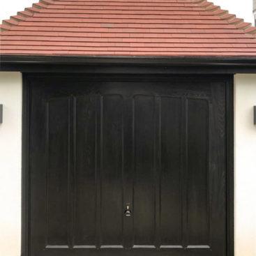 Garador Penshurst GRP Up & Over Garage Door Finished In Ebony Black