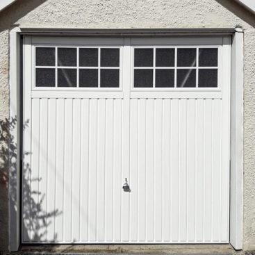 Garador Salisbury Up & Over Canopy Garage Door Finished in Traffic White