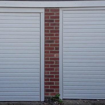 Garador Horizon Steel Up & Over Garage Doors Finished In Traffic White