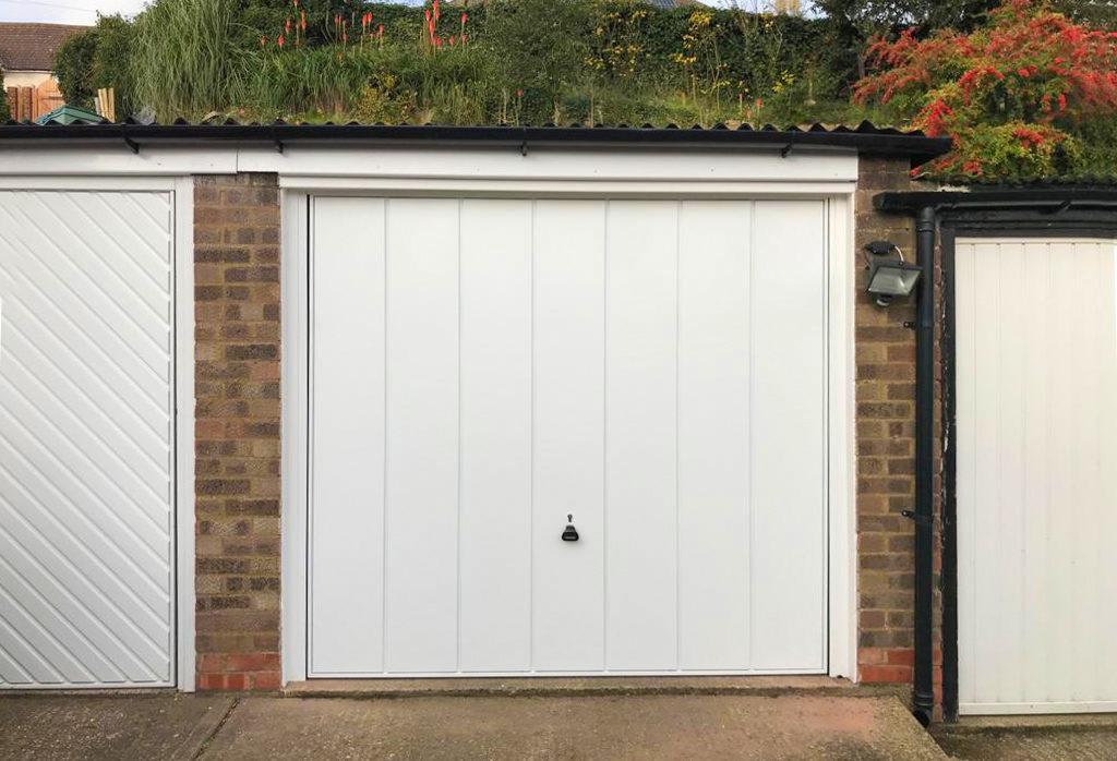 Garador Windsor Canopy Up & Over Garage Door Finished in White