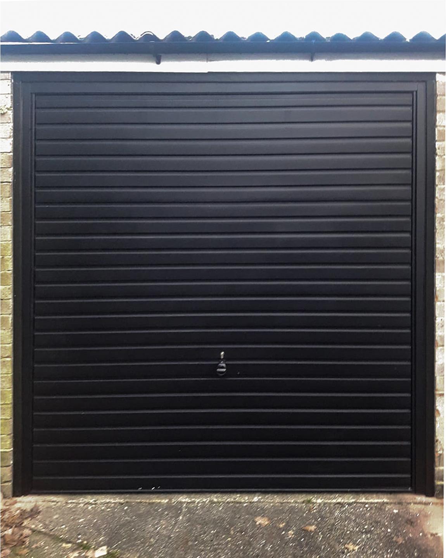 Hormann 2002 Canopy Steel Up & Over Horizontal Garage Door Finished in Black