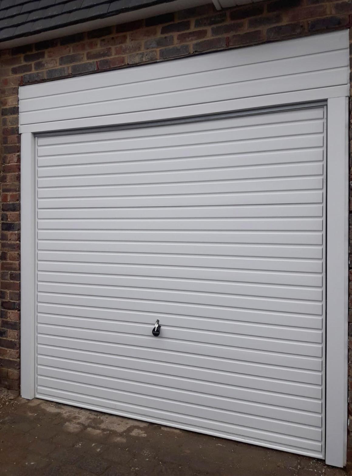 Hormann 2002 Steel Up & Over Horizontal Garage Door Finished in Traffic White