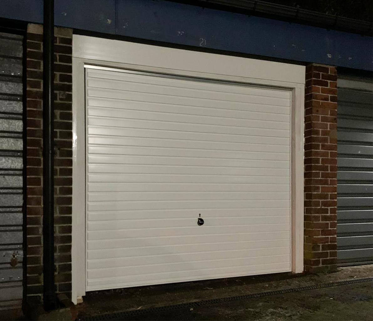 Hormann 2002 Steel Up & Over Horizontal Garage Door Finished in White