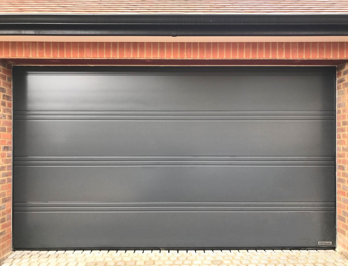 HormannLPU42 T-Ribbed Sectional Garage Door