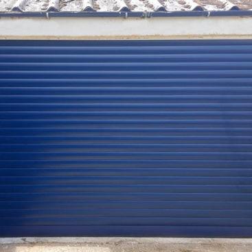 SWS SeceuroGlide Roller Garage Door in Navy Blue