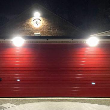 HormannLPU42 S Ribbed, Double Sectional Garage Door