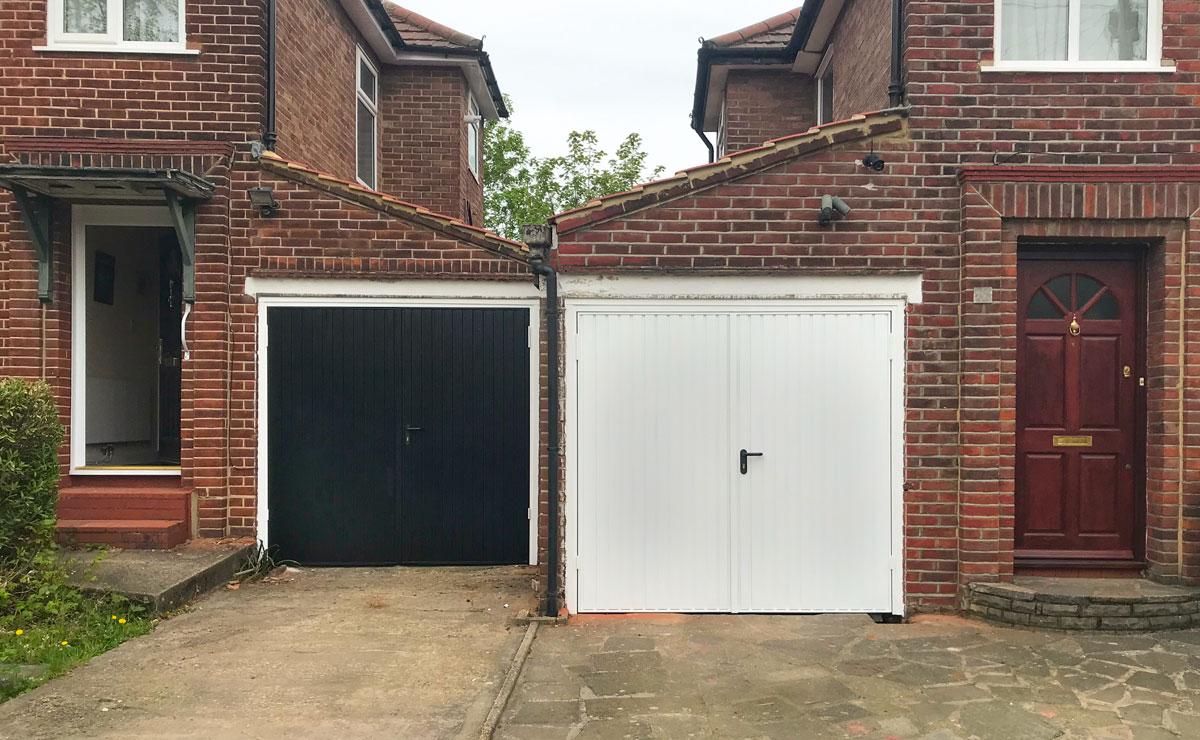 2 x Garador Carlton Side-Hinged Garage Doors