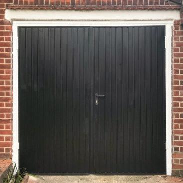 Garador Carlton, Side-Hinged Garage Door in Black