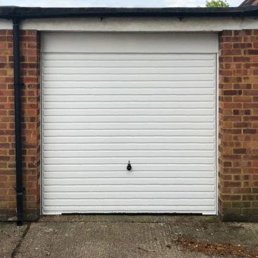 A Hormann 2002, H-Ribbed, Canopy Garage Door