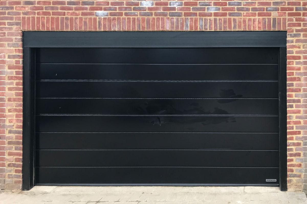 Access Garage Doors | Hormann LPU42, Sectional, Garage Door in Black
