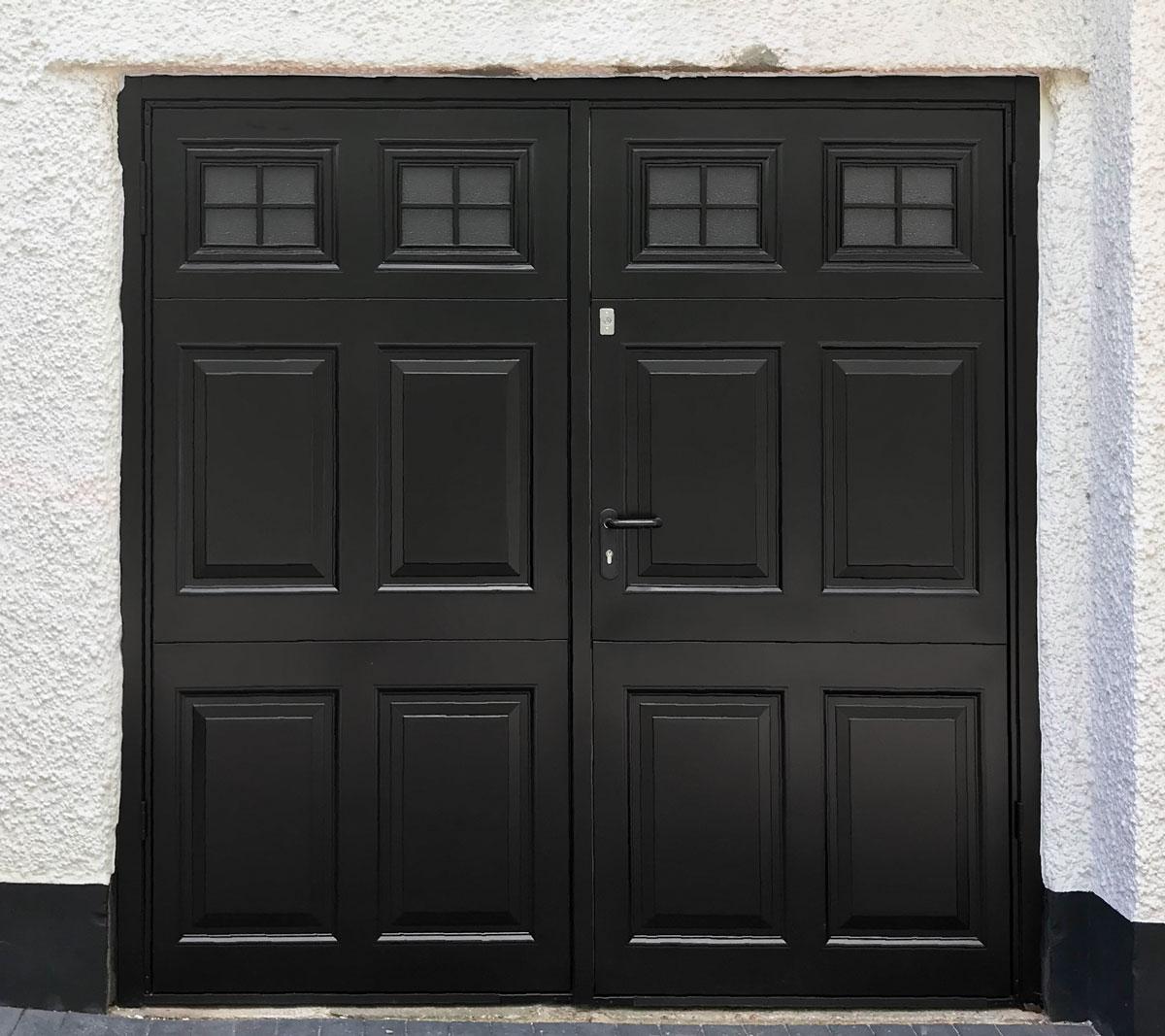 Garador Beaumont Steel Framed Side-Hinged Garage Door in Black