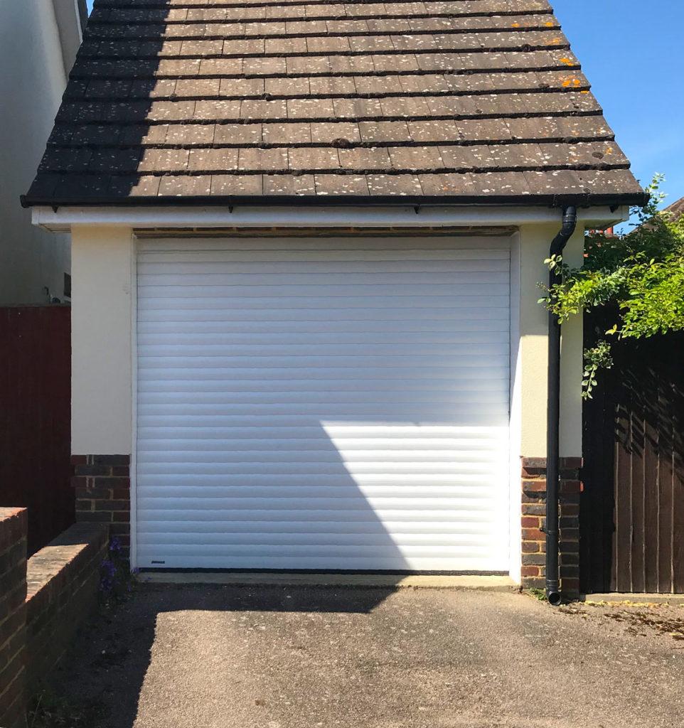 An SWS Seceuroglide Classic Roller Garage Door