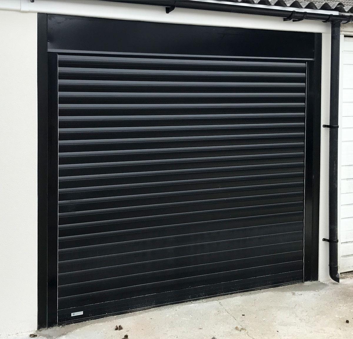 Seceuroglide Classic Roller Garage Door in black