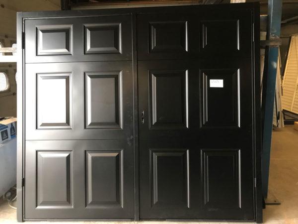 Garador Beaumont side hinged garage door in Black