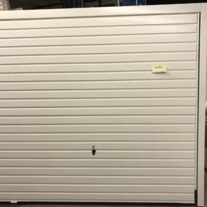 Garador Horizon Canopy steel garage door in white