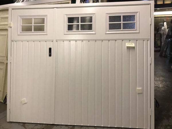 Fort Chester Vertical steel side hinged garage door in white