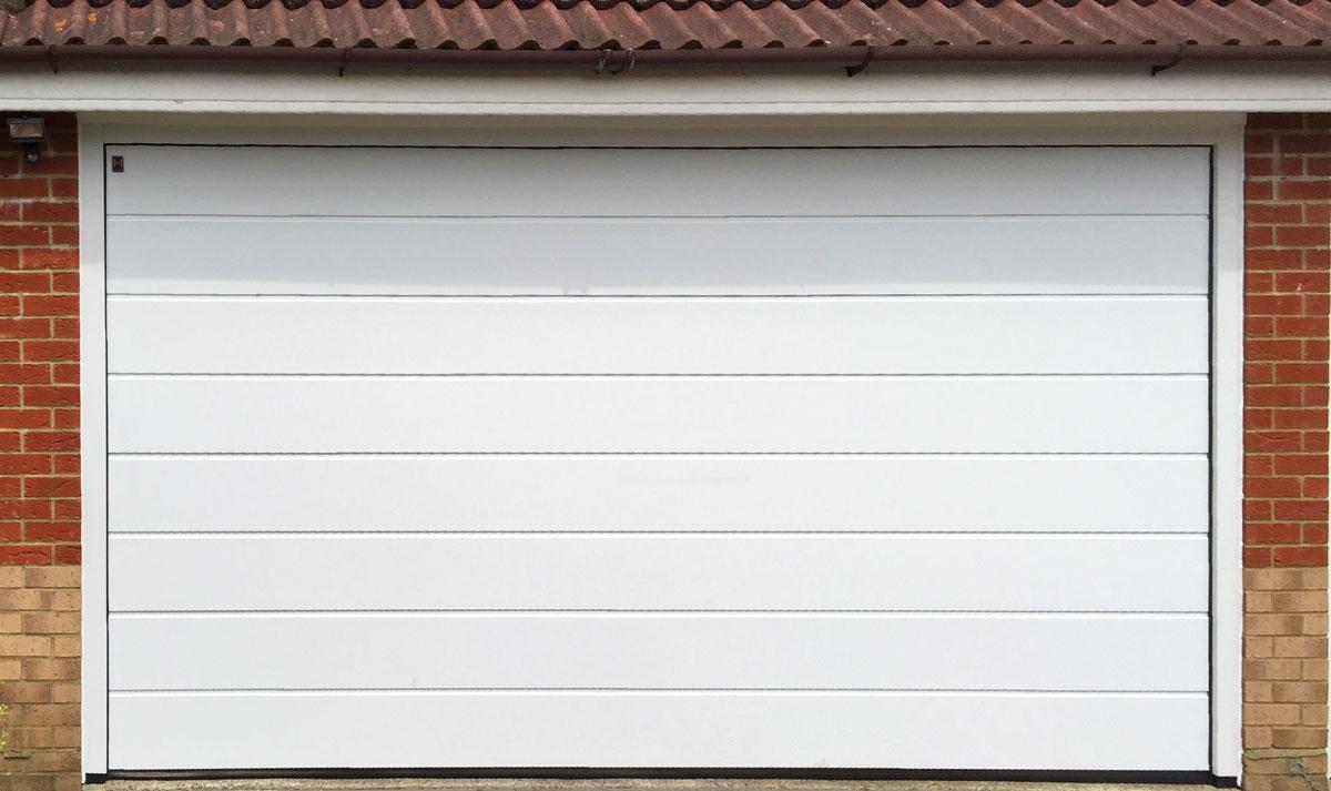 Hormann LPU42 M-Ribbed Sectional Garage Door in White