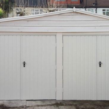 Fort Vertically Ribbed, Side-Hinged Garage Doors