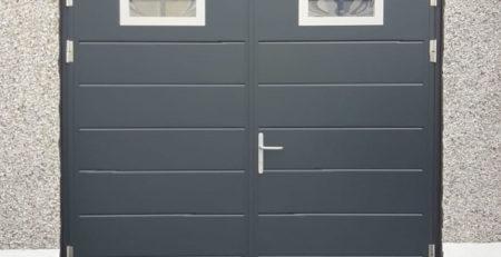A Ryterna Side Hinged Garage Door in Grey