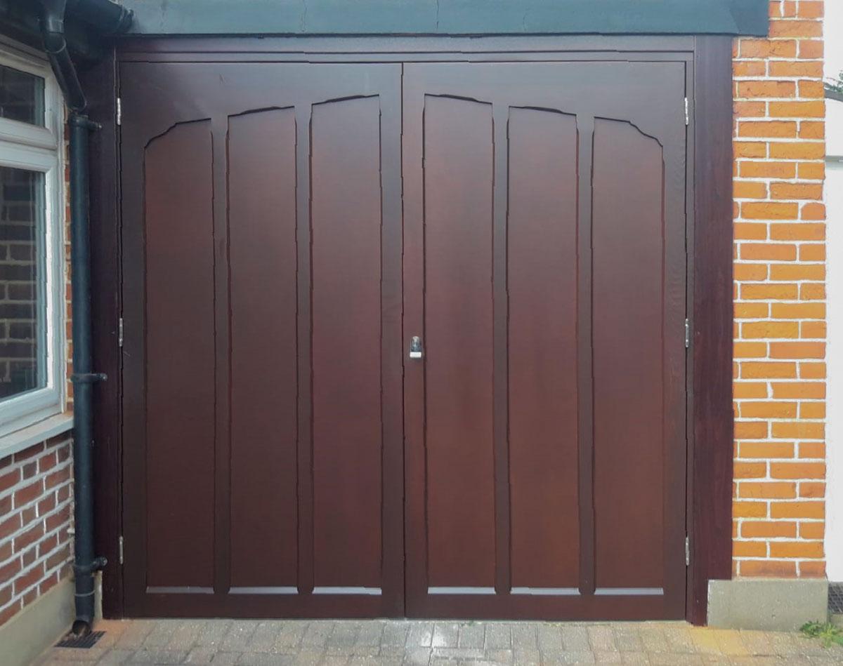 Access Garage Doors | SWS SeceuroGlide Sectional Garage Door, in Black