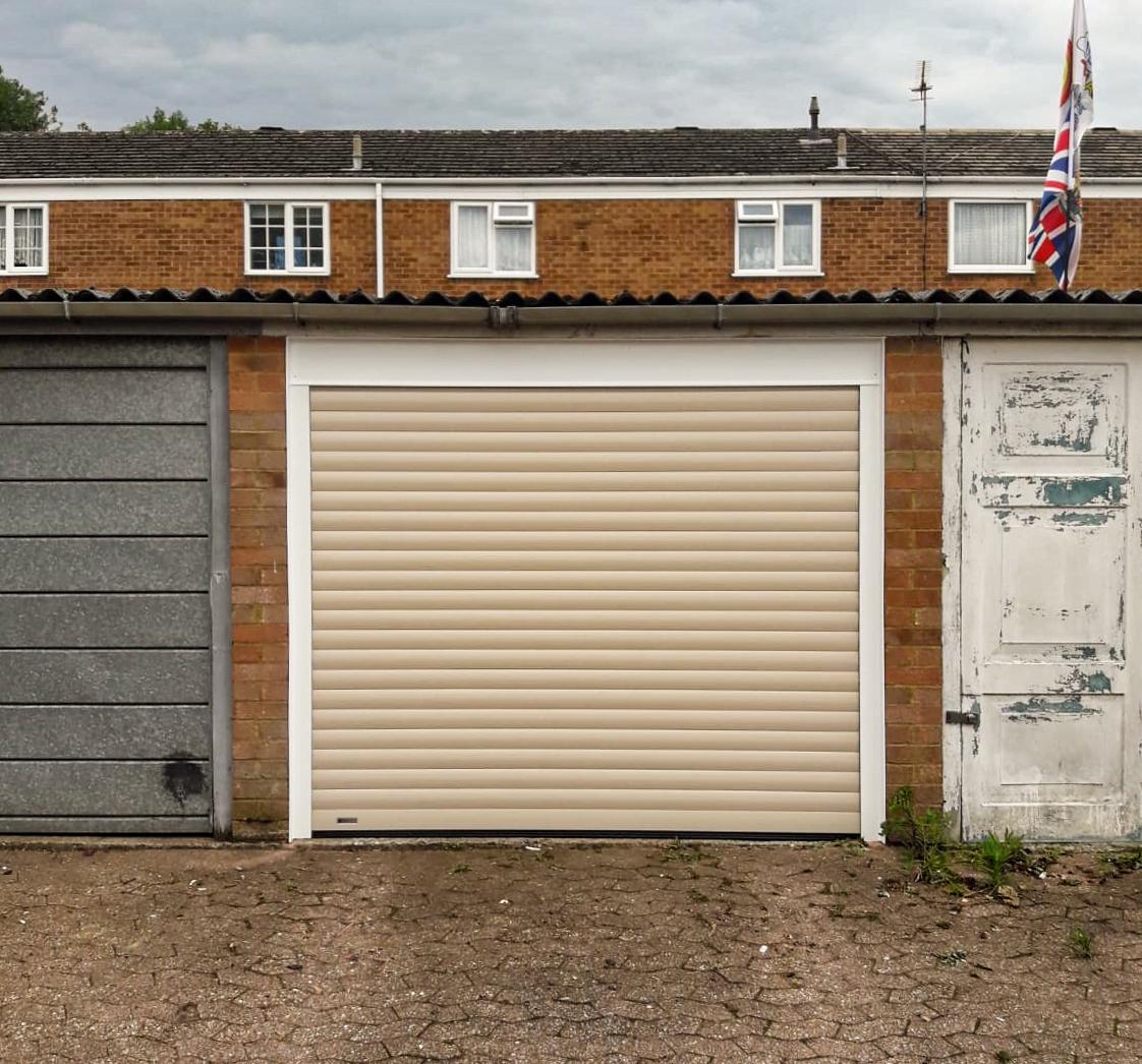 SWS SeceuroGlide Insulated Roller Garage Door Finished in Beige