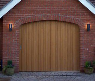 Round the Corner Sliding Garage Door